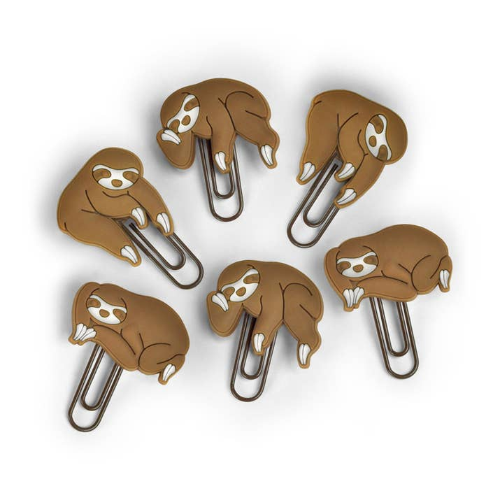 1 Sloth Paper Clips