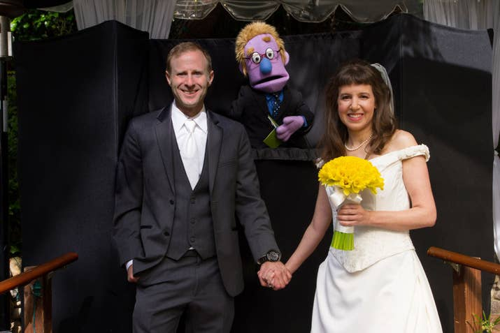 And They Didnt Stop With One Puppet Officiant Their Ceremony Featured