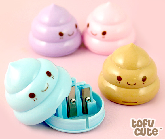 33 kawaii pastel poop pencil sharpener