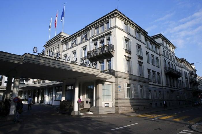 The Baur au Lac hotel in Zurich, Switzerland, on Wednesday.