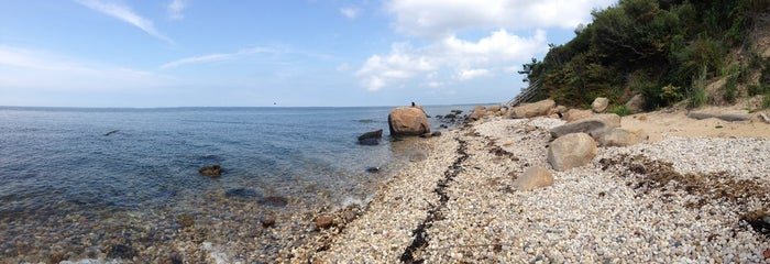 The beach next to the Horton Point Lighthouse in Southold is the best example.