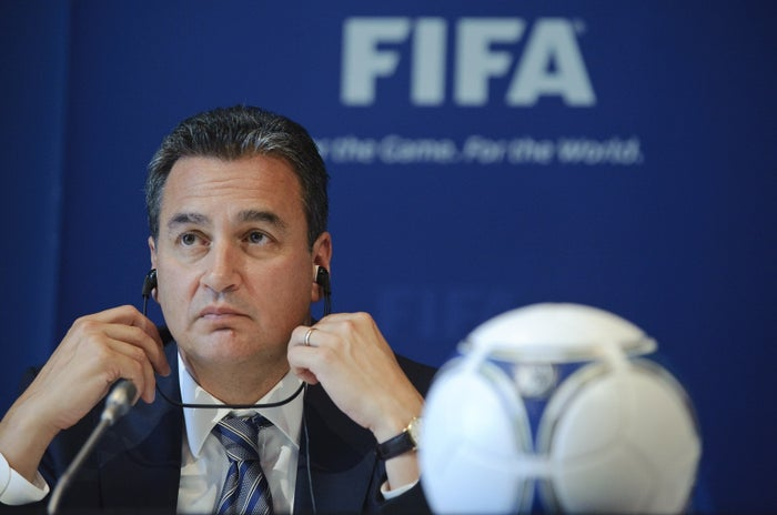 Michael J. Garcia during a press conference at FIFA's headquarters in July 2012.