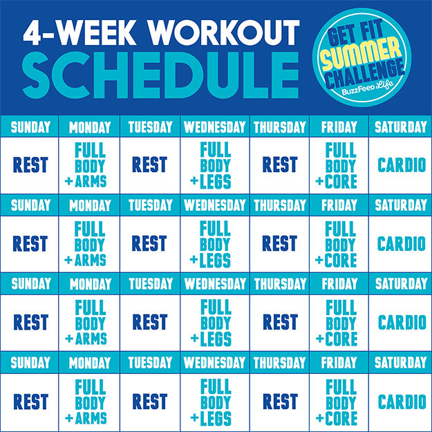 The Get Fit Summer Challenge Is A 4 Week Strength And Cardio Workout Plan  Created By NYC Based Trainer Jessi Kneeland, NASM, Of ReModel Fitness, ...