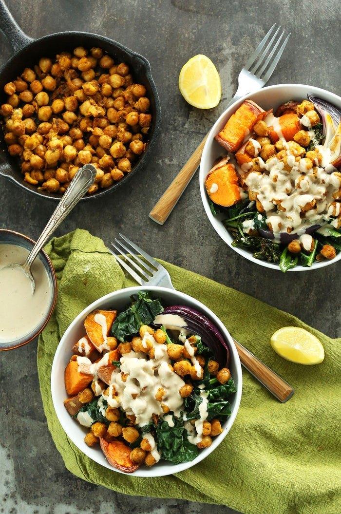 How about a big bowl of sweet and savory comfort drizzled in tahini sauce? Recipe here.