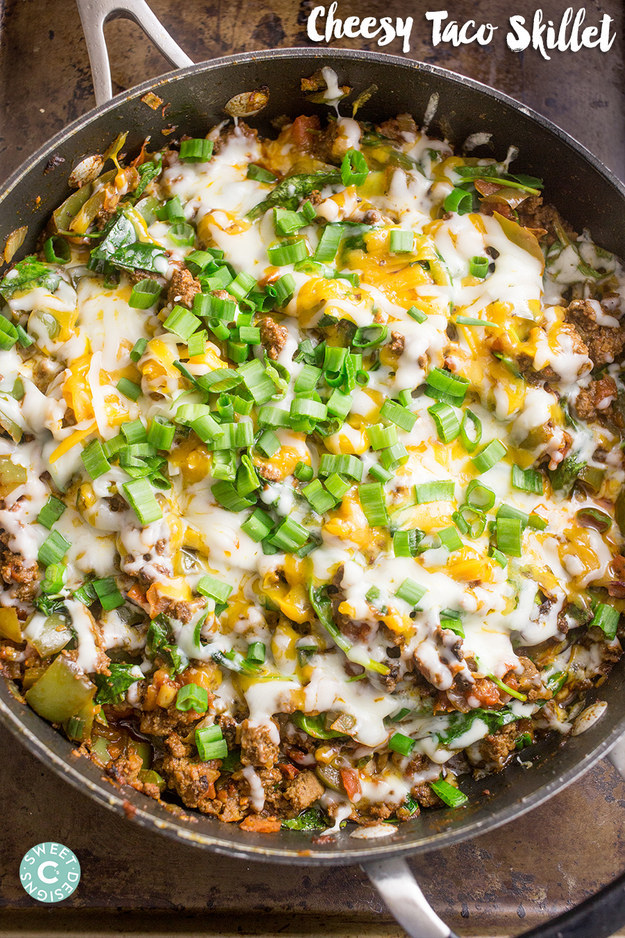 One-Pot Cheesy Taco Skillet
