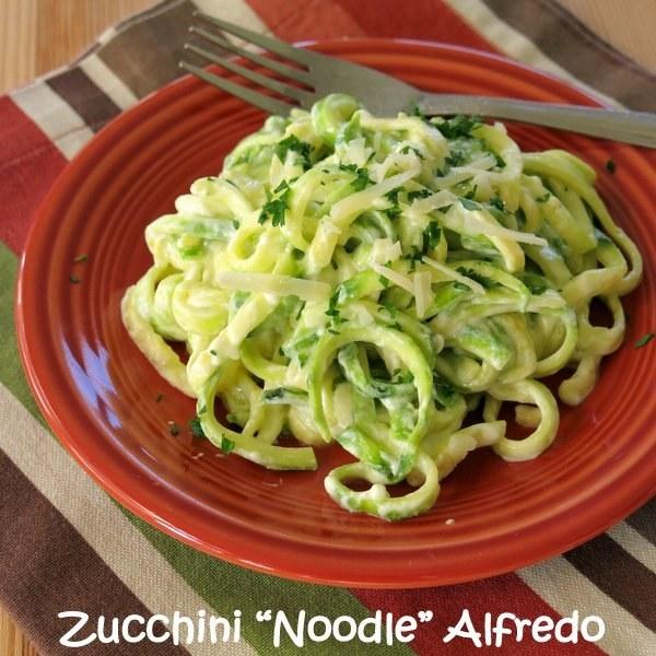 "5-Ingredient Zucchini ""Noodle"" Alfredo"
