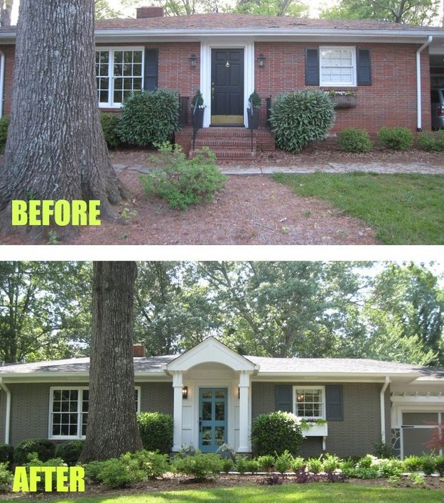 15 home makeovers you have to see to believe for Redesign front of house