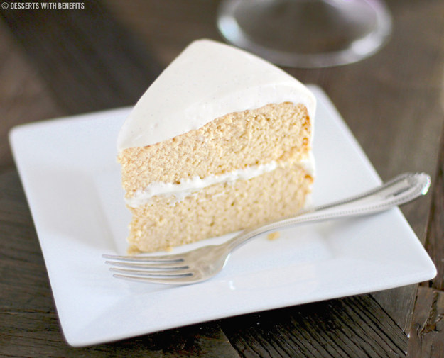 Vanilla Bean Cake With Cream Cheese Frosting