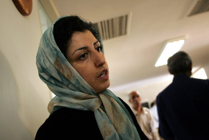 Iranian opposition human rights activist, Narges Mohammadi in 2007