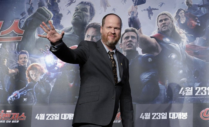 Joss Whedon at an event for Avengers: Age Of Ultron in Seoul, South Korea, on April 17, 2015.