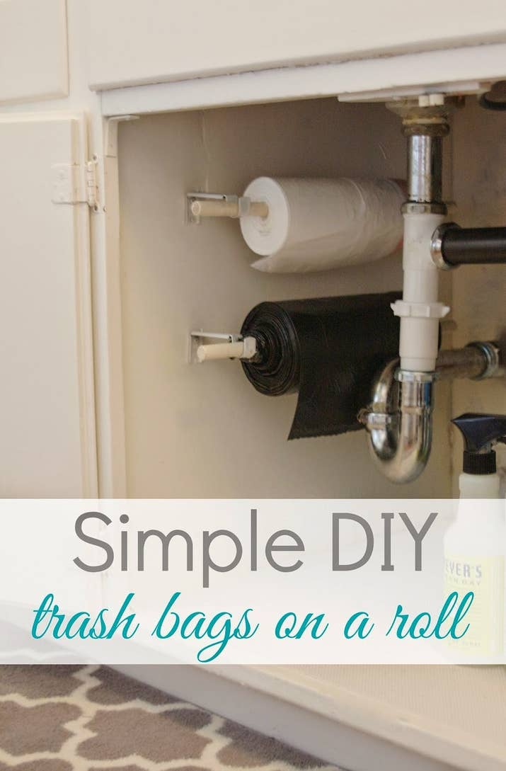 Maybe now your family will remember to take out the garbage. It's worth a shot!Full tutorial at Simply Organized.