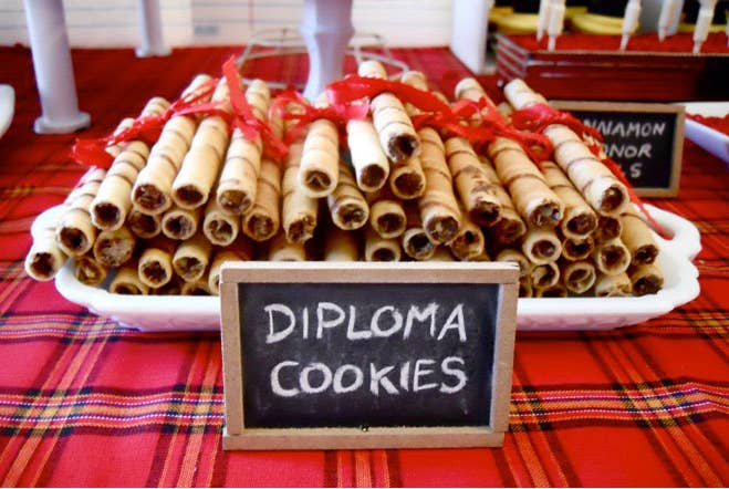 11 And Nothing Is Easier Than Tying A Ribbon Around Pirouette Cookies To Look Like Diplomas