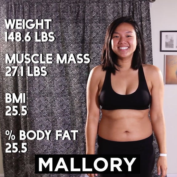 Before Getting Started We Measured Our Weight Muscle M Bmi And Percentage Of Body Fat