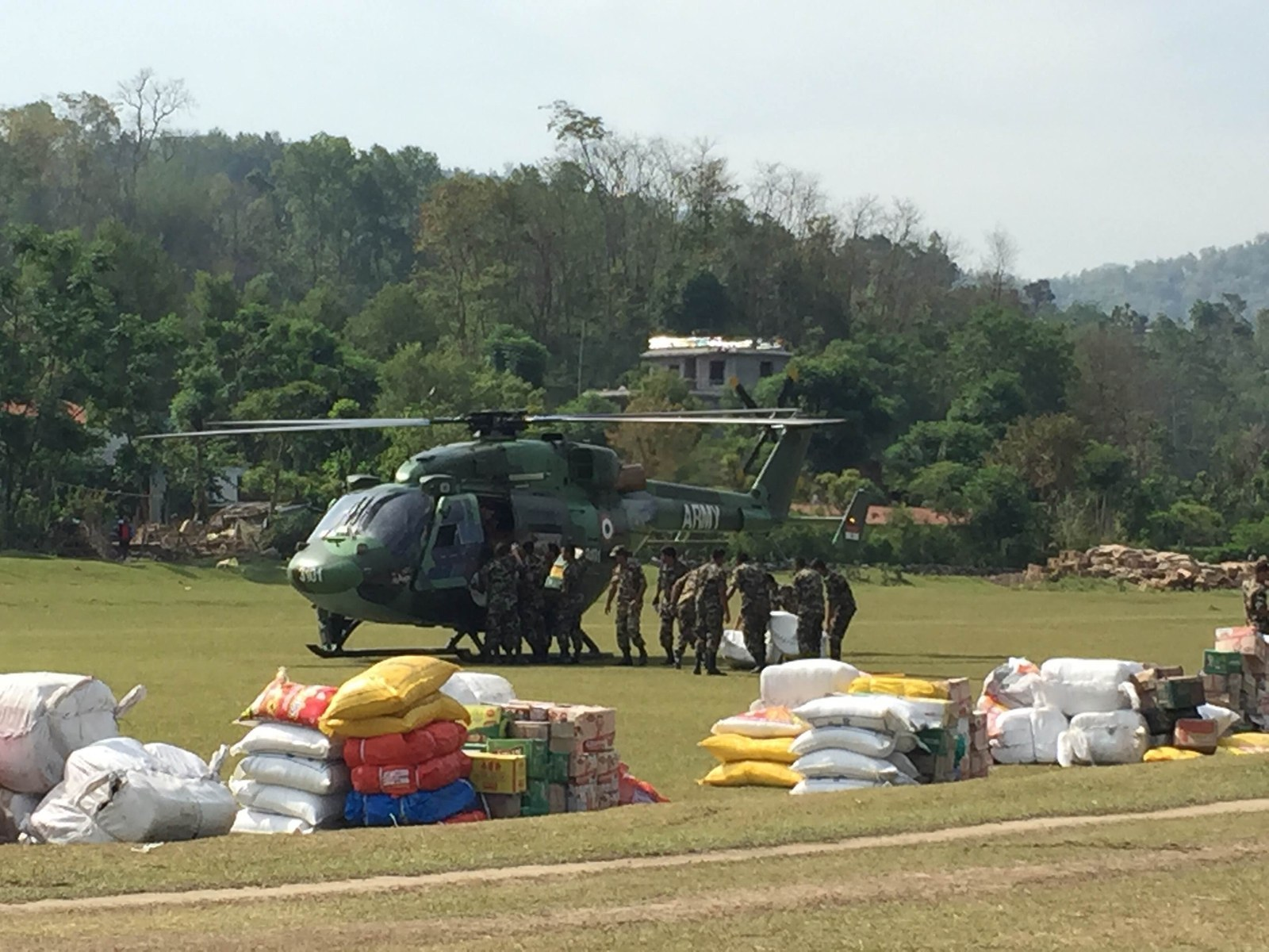 How Helicopters Are Helping – And Hampering – Aid Relief In Nepal