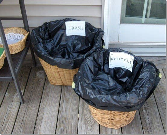 23 Take The Stress Out Of Cleanup By Having Separate Baskets For Trash And Recycling