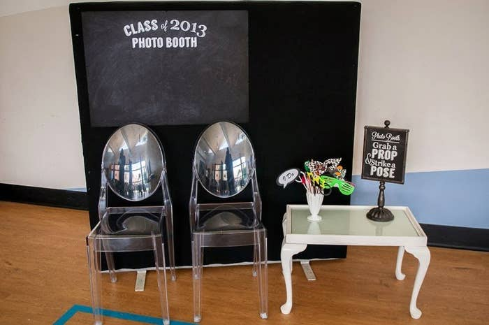 It's as easy as chalkboard contact paper. Check it out here.