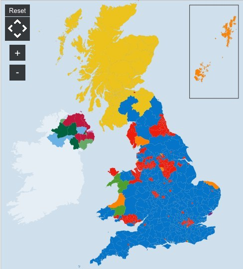 The General Election Result In Maps Lots Of Maps
