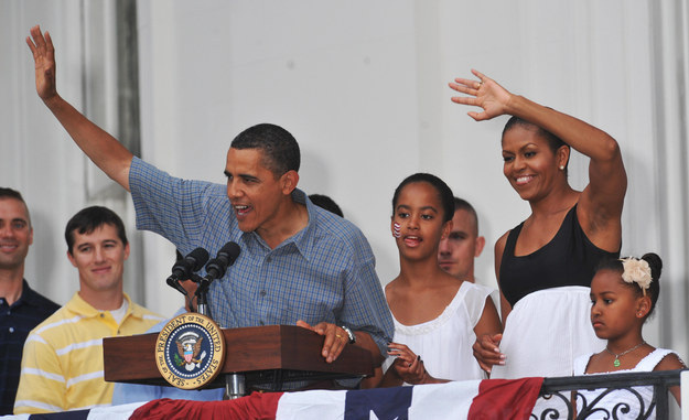 2009 - With her family celebrating Independence Day and honoring military heroes.