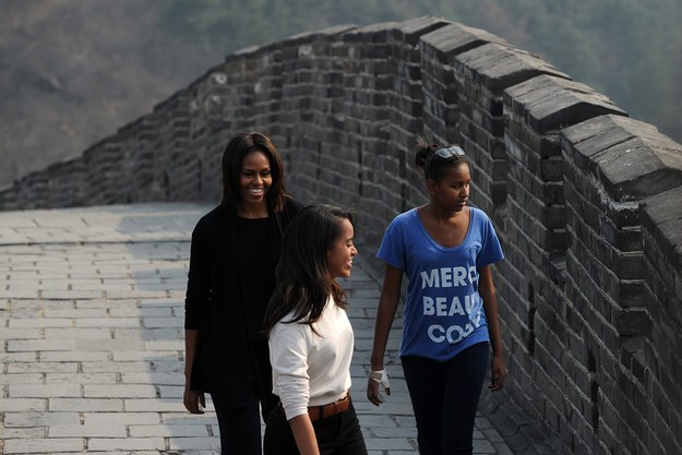 2014 - Visiting the Great Wall.