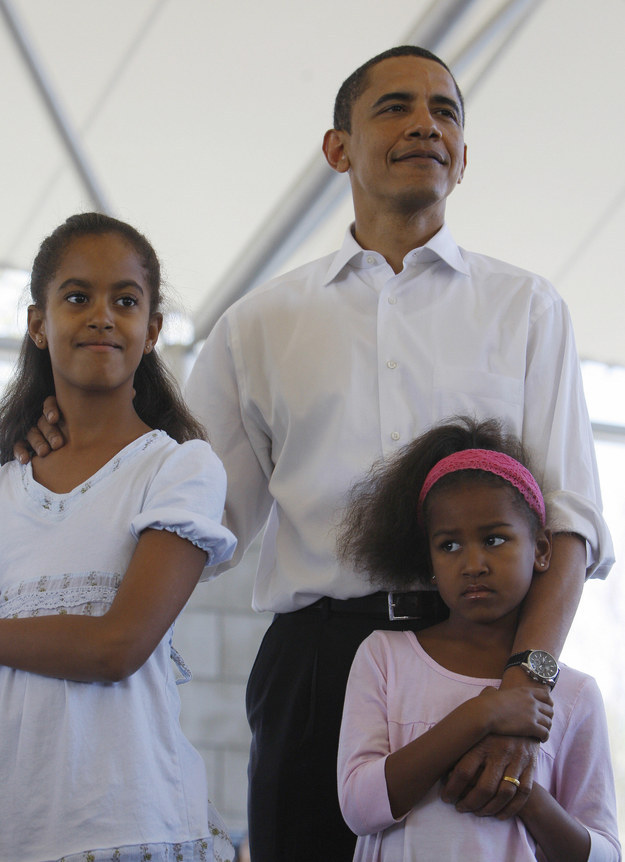 2008 - With her dad and sister in Indiana.