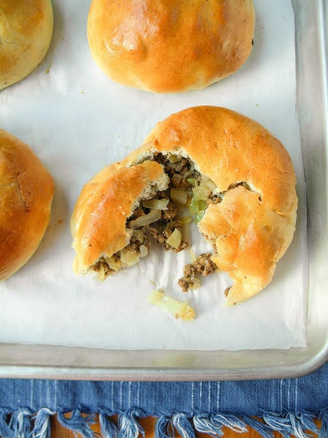These savory Oktoberfest favorites are also a comfort food tradition in middle America. Country: GermanyTypical Filling: Beef and cabbage.Recipe: Nebraska Beef Buns