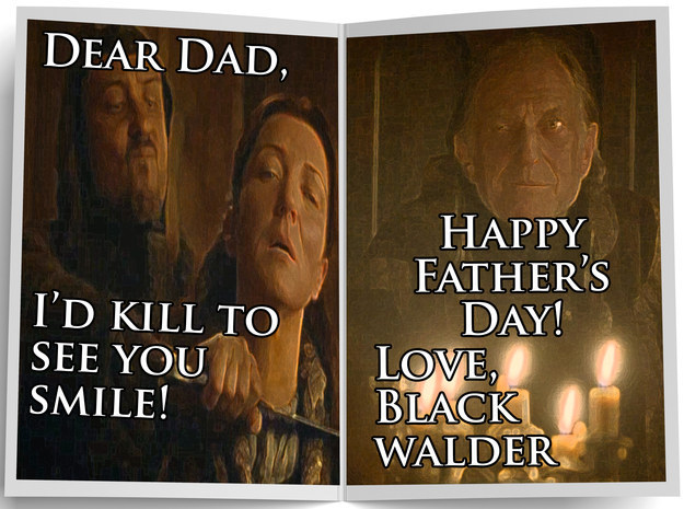 King On Throne Fathers Day Funny Greeting Card