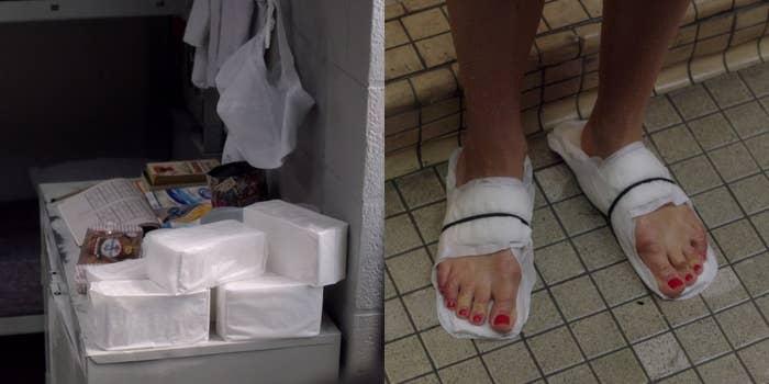 """Às vezes a limpeza do banheiro disponível deixa a desejar – geralmente quando você esqueceu as """"legítimas"""" em casa."""