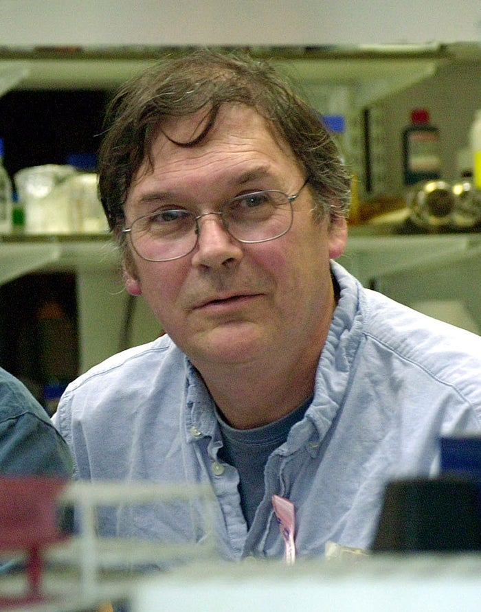 Sir Tim Hunt pictured in 2001.