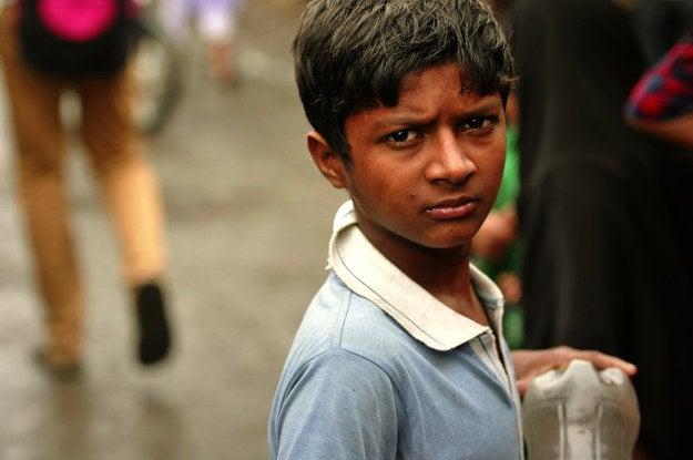 1. Boy in Mumbai, India.