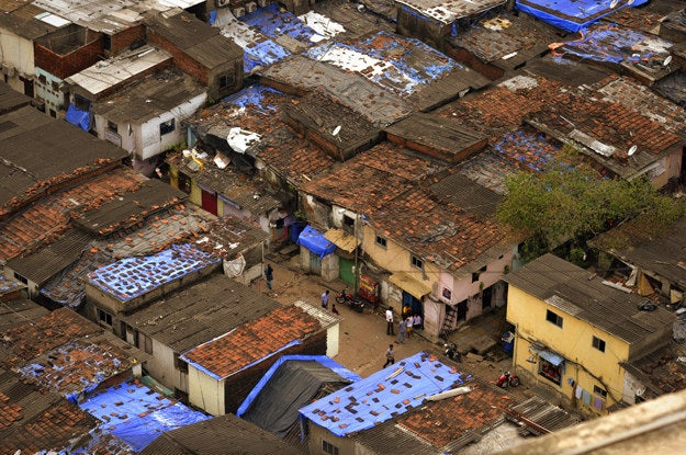 2. Rooftops in Dharavi, India.