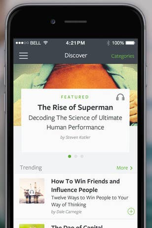 Blinkist 417 Month IOS And Android Provides Summaries For Over 1000 Influential Nonfiction Books
