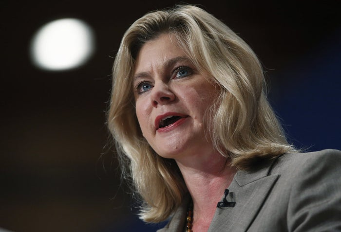 British International Development Secretary Justine Greening at a party conference in October.