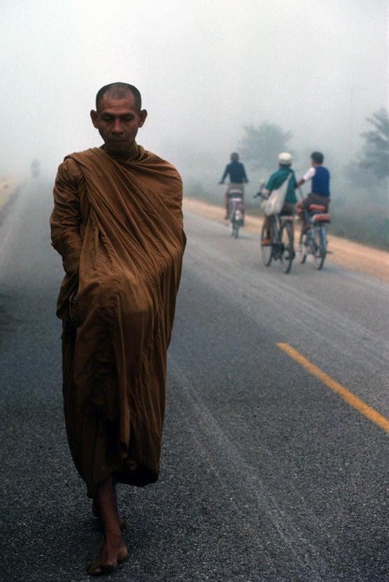 Early Morning Monk / Nan Valley, Thailand / 1985