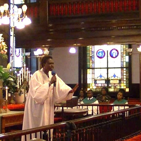 Coleman-Singleton singing in Emanuel African Methodist Episcopal Church in Charleston, South Carolina.
