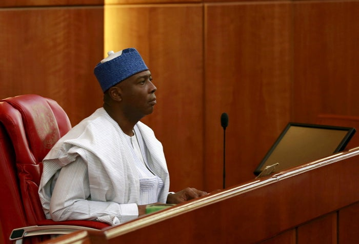 Senate president Bukola Saraki in Nigeria's capital Abuja last week.