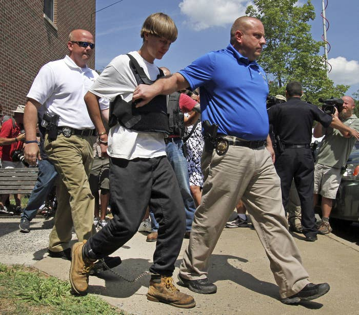 Dylann Roof was arrested on June 18 in Shelby, North Carolina.
