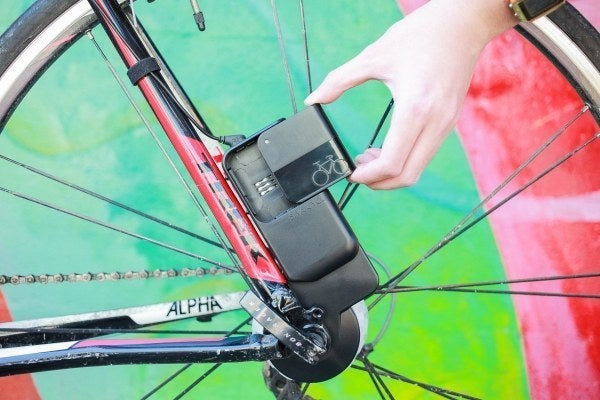 It's a generator that you can install easily on your bike wheel. Create clean energy that can power your phone or any other USB device with your legs.