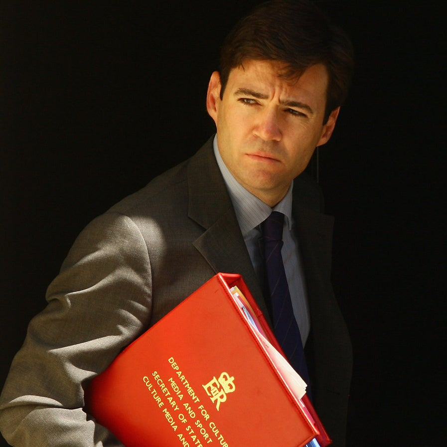Andy Burnham attends a cabinet meeting in 2008.