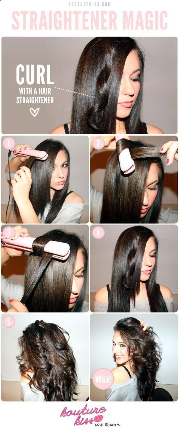 Switch things up by using your straightener to curl your hair.