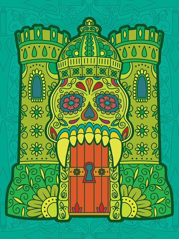 He-Man's iconic castle looks amazing with a Día de los Muertos makeover.