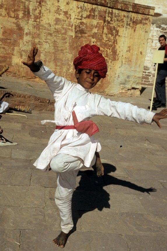 Beggar Boy Dancing For Money / Jodipur, India / 2005