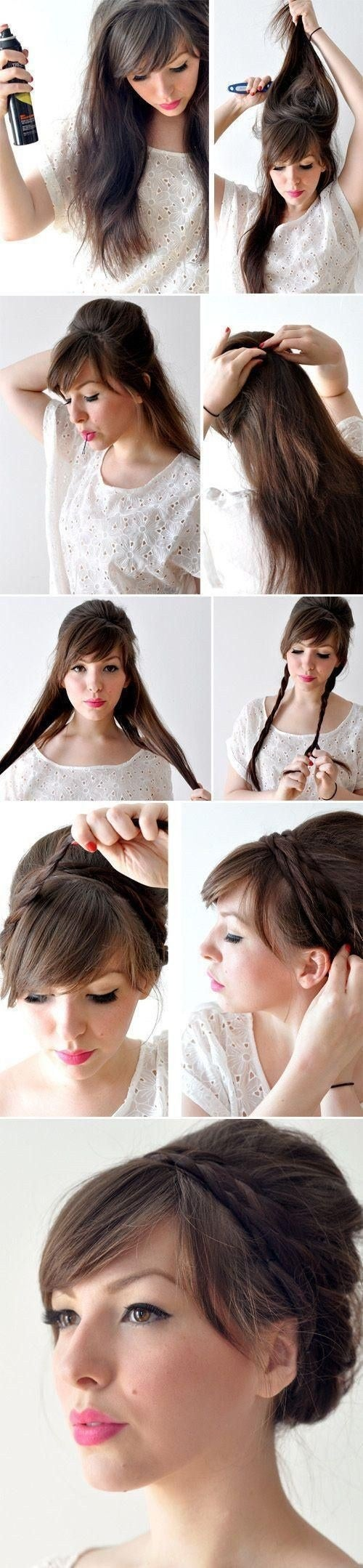 Learn how to DIY the hairstyle here.