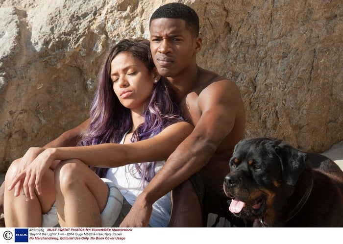 Gugu Mbatha-Raw and Nate Parker in Beyond the Lights.