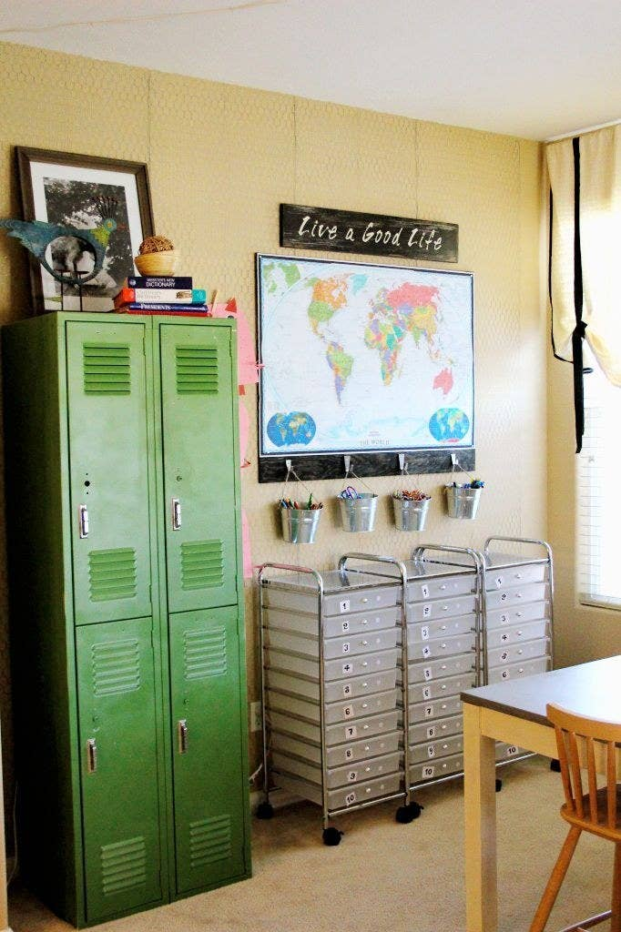lockers put you in the school mood and give kiddos a place to store call their own - Home School Furniture
