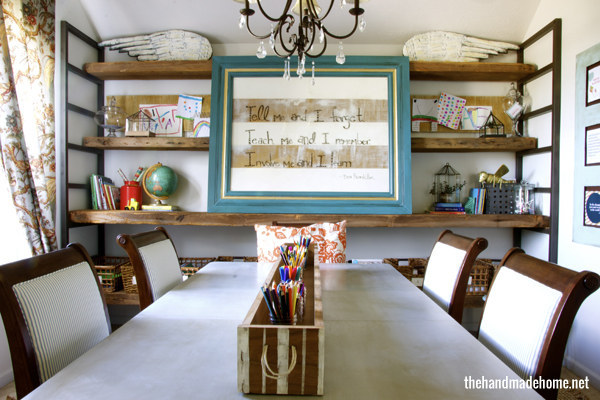 27 ridiculously cool homeschool rooms that will inspire you for Homeschool dining room ideas