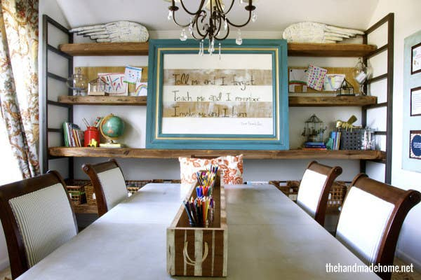 14 not using your formal dining room reclaim it as your classroom - Home School Furniture