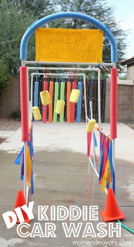 Bonus: use it to give bikes and outdoor toys a good cleaning. Check out the idea here.