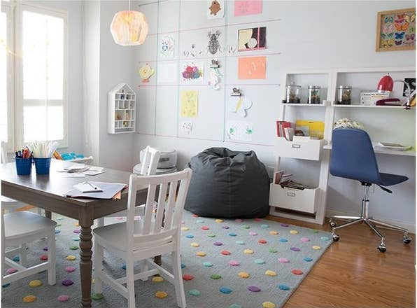 this gorgeous homeschool room was designed by land of nod for blogger diana stone - Home School Furniture