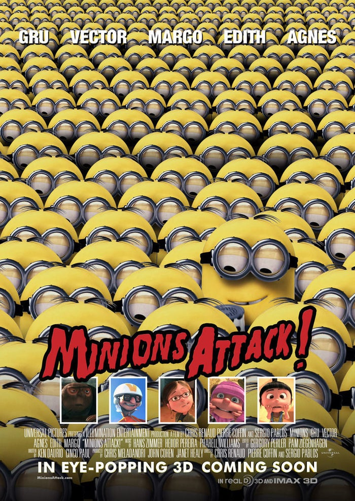 Minions Attack Poster by Alecx8