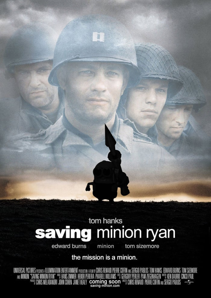 Saving Minion Ryan Poster by Alecx8